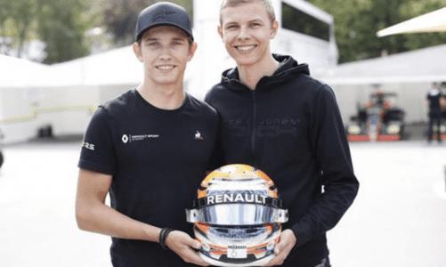 ART Grand Prix driver Lundgaard about his helmet