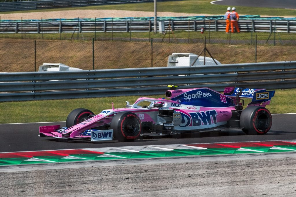 Lance Stroll during the 2019 Hungarian GP